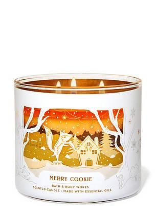 Свеча ароматизированная Bath and Body Works Merry Cookie Scented Candle 411 г, фото 2