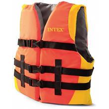 Спасательный жилет взррослый Intex 69681, 40кг и больше, оранжевый