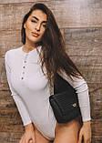 Боди женское в рубчик стильное бежевый, пудра, молоко 42-44,46-48, фото 5
