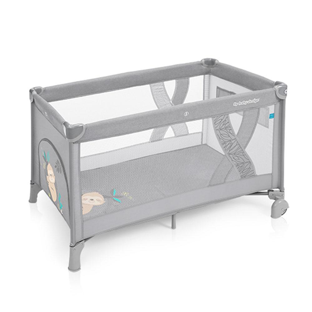 Манеж-ліжечко Baby Design SIMPLE 07 LIGHT GRAY