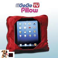 Дорожная подушка Go Go Pillow Красная 3 в 1 | подставка и чехол для планшета | подушка подголовник Гоу Гоу