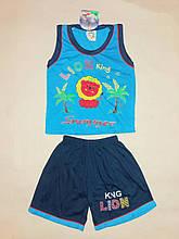 Костюм для хлопчика майка і шорти ND на ріст 92 див. Синій