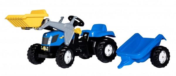 Трактор з причіпом та ковшем Rolly Toys rollyKid NEW HOLLAND синьо-жовтий
