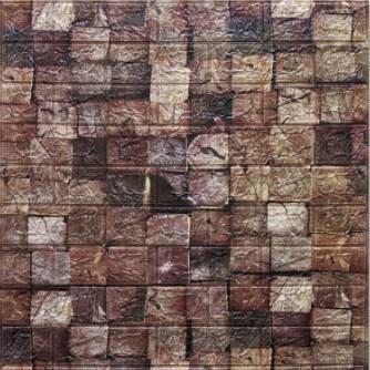 Мягкие 3D панели 700x770x5мм (самоклейка) Дерево Брус