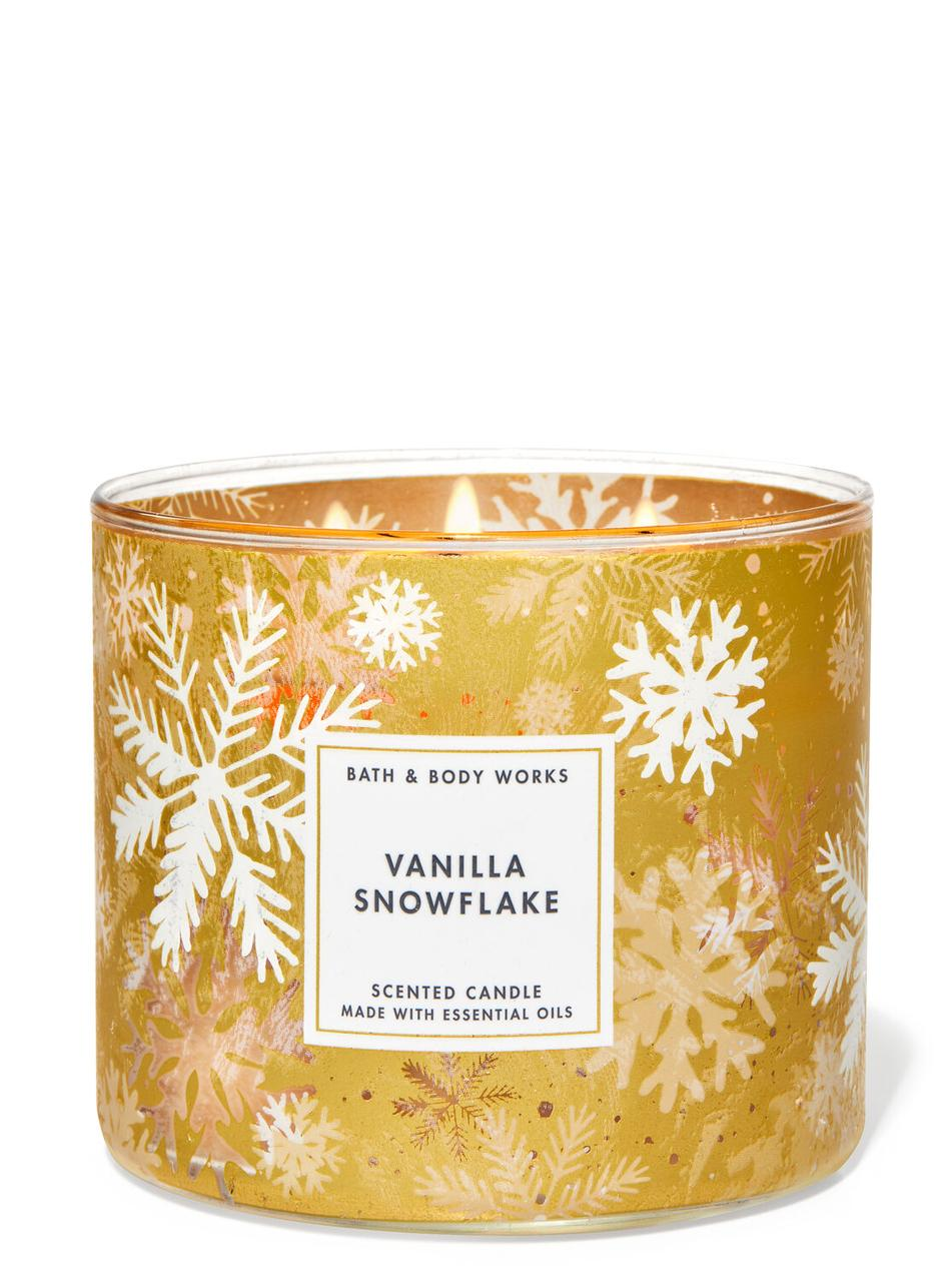 Свеча ароматизированная Bath and Body Works Vanilla Snowflakes Scented Candle 411 г