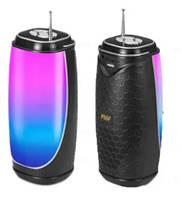 Bluetooth колонка MF-206 со светомузыкой, USB, SD, FM, 1-динамиком и антенной 18см*8.5см Black (MF-206)