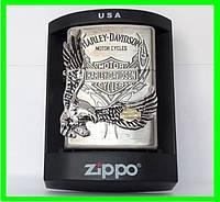 Зажигалка ZIPPO Бензиновая (Harley - Devidson Silver), фото 1