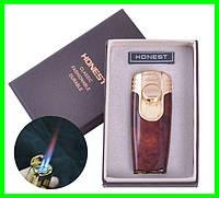 Зажигалка в Подарочной Упаковке HONEST (двойной факел)