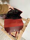 Рюкзак-трансформер из натуральной кожи на магните бордовый, фото 3