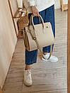 """Вместительная сумка-кросс боди """"Моника"""" ROMASHKA бежевая, фото 5"""