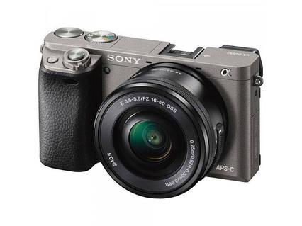 Камера SONY Alpha a6000 ILCE-6000 gray + обьектив 16-50mm