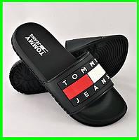 Шлёпанцы Тапочки TOMMY Jeans Сланцы Чёрные Мужские (размеры: 44), фото 1