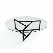 Скляний прямий комп'ютерний стіл БЦ Стіл Альтаір, фото 3
