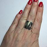 """Лабрадор кольцо с лабрадором в форме """"Маркиз"""" в серебре. Кольцо с лабрадором размер 17 Индия, фото 2"""