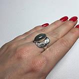 """Лабрадор кольцо с лабрадором в форме """"Маркиз"""" в серебре. Кольцо с лабрадором размер 17 Индия, фото 5"""