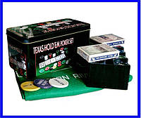 Набор Для Покера на 200 фишек и Игровым Сукном, фото 1
