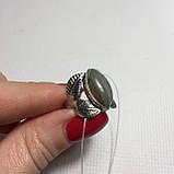 """Лабрадор кольцо с лабрадором в форме """"Маркиз"""" в серебре. Кольцо с лабрадором размер 17 Индия, фото 6"""