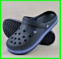 Мужские Тапочки CROCS Синие Кроксы Шлёпки (размеры: 43,44,45,46), фото 1