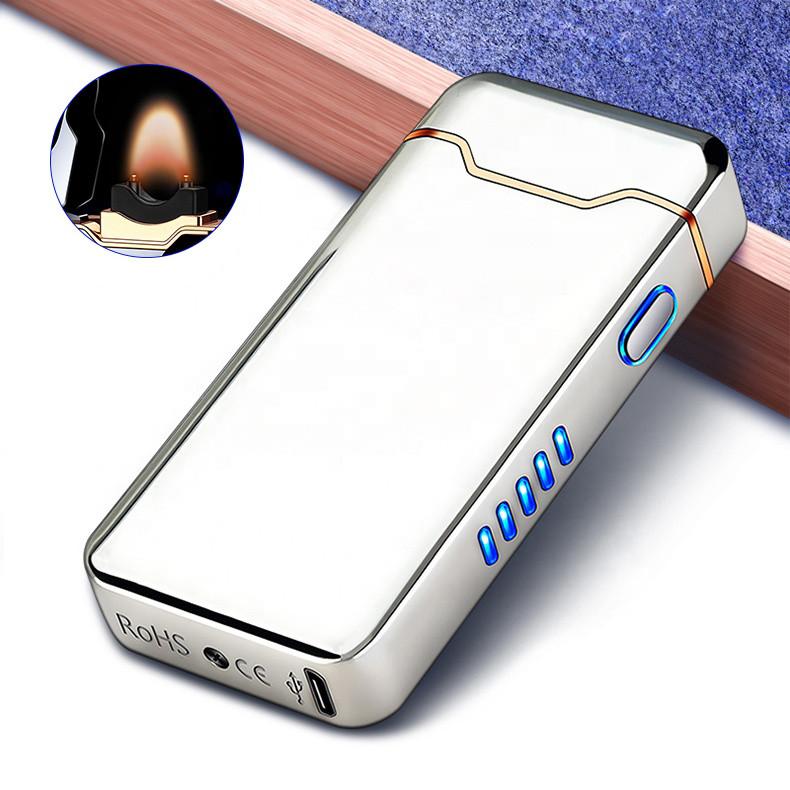 Электроимпульсная USB зажигалка High Power Chromium 112-5
