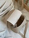"""Сумка """"Лилит"""" с длинным ремешком-цепочкой ROMASHKA, Бежевый 5115, фото 3"""