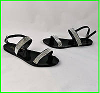 .Женские Сандалии Босоножки Чёрные Летние (размеры: 36,40), фото 1