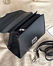 Сумка ROMASHKA трапеция классическая в виде конвертика с замком фурла черная, фото 3