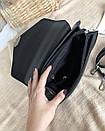 Сумка ROMASHKA трапеция классическая в виде конвертика с замком фурла черная, фото 4