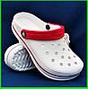 Женские Тапочки CROCS Белые Кроксы Шлёпки Сланцы (размеры: 41)