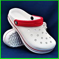 Женские Тапочки CROCS Белые Кроксы Шлёпки Сланцы (размеры: 41), фото 1