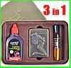 Подарочный Набор 3 в 1 ( Зажигалка ZIPPO Бензиновая, Мундштук  и Бензин для заправки )