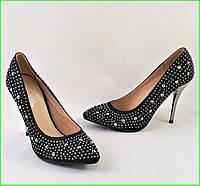 Женские Черные Туфли на Каблуке Модельные Шпилька (размеры: 37,38,39,40) - 11, фото 1