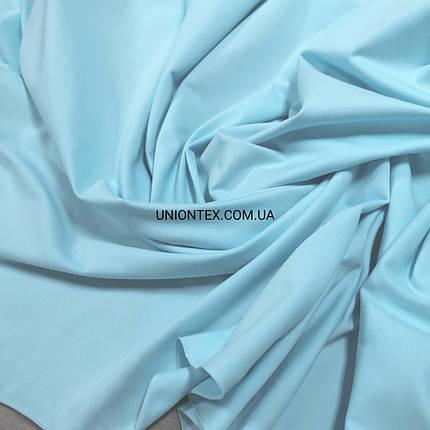 Стрейч кулир пенье голубой тиффани, ширина 180см, фото 2