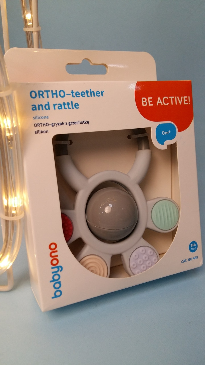 Прорізувач для зубів, брязкальце BabyOno 488
