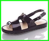 Женские Сандалии Босоножки Чёрные Летняя Обувь (размеры: 37), фото 1