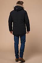 Чорна чоловіча парку на зиму модель 15231 розмір 46 (S), фото 3