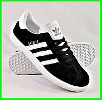 Кроссовки Adidas Gazelle Чёрные Мужские Адидас (размеры: 41,45) Видео Обзор, фото 1