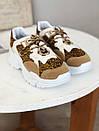 Кроссовки с лео вставками белые, фото 2