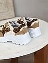 Кроссовки с лео вставками белые, фото 3