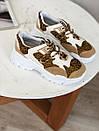 Кроссовки с лео вставками белые, фото 4