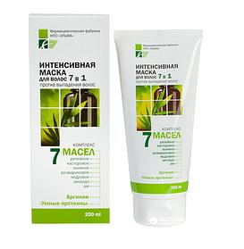 Інтенсивна маска для волосся 7в1 200 мл, Elfa Pharm 7 масел
