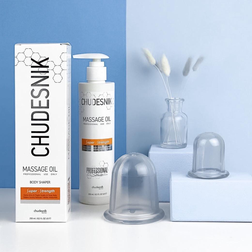 Массажный набор для тела CHUDESNIK с массажным маслом