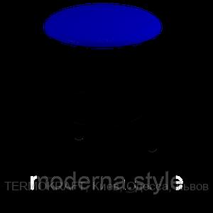 Табурет  Тедди black кожзам синий
