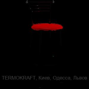 Стул барныйМарко Hoker black кожзам красный для кухни, бара, летней площадки