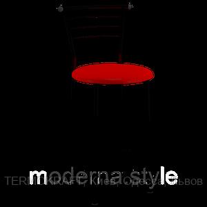 Стул   2301н полубарный  Марко  black кожзам красный для кухни, бара, ресторана