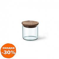 Банка для сыпучих Simax с деревяной крышкой d9,5 см h9,5 см ударопрочное стекло (s5162/LW Simax)