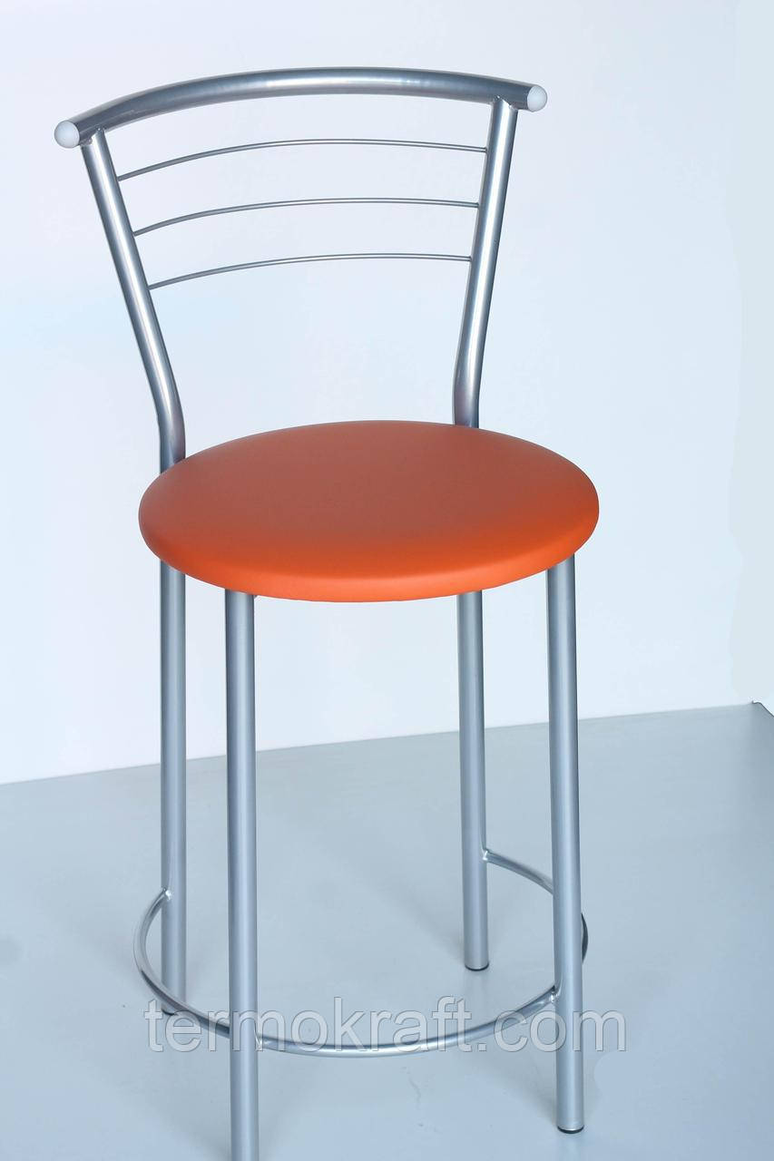 Стул  полубарный Марко alum  кожзам оранжевый для кухни, бара, ресторана