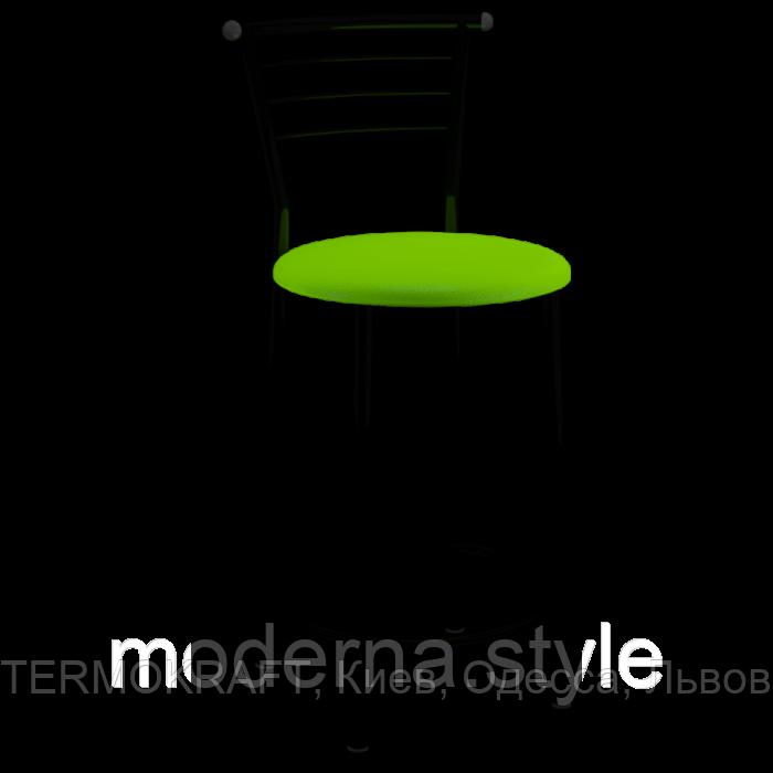 Стул  полубарный Марко black кожзам салатовый для кухни, бара, ресторана
