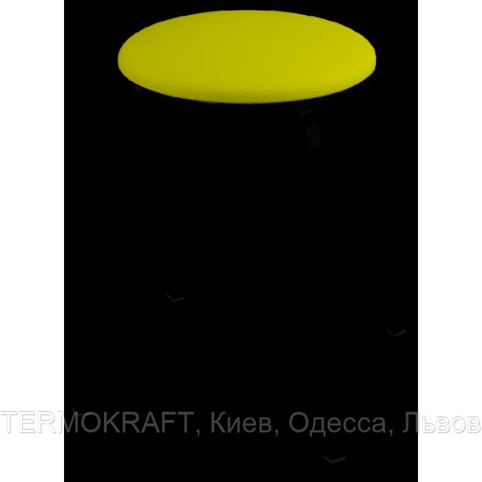 Табурет 2710  black кожзам желтый
