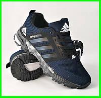 Кроссовки Adidas Spring Синие Мужские Адидас (размеры: 41,42,43,44,45,46) Видео Обзор, фото 1