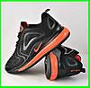 Кроссовки N!ke Air Max 720 Чёрные с Оранжевым Мужские Найк (размеры: 41,43,44,45,46) Видео Обзор